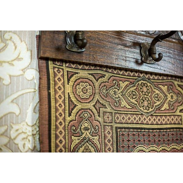 19th-Century Coat Hanger with a Tapestry For Sale - Image 9 of 13
