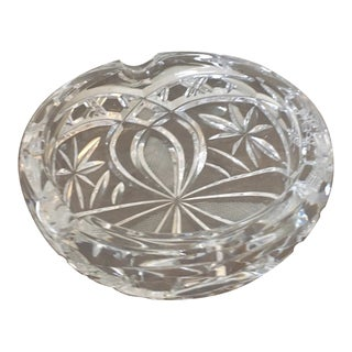 Mid Century Crystal Cigarette Bowl For Sale