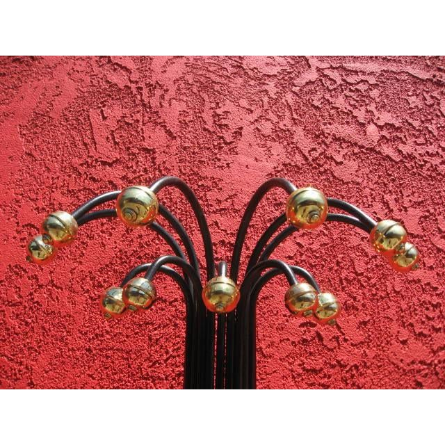 1960s Mid-Century Large Wall Sconce With Brass Accents For Sale - Image 5 of 7