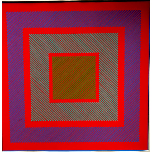 1970s Richard Anuszkiewicz Op Art Signed For Sale - Image 5 of 9