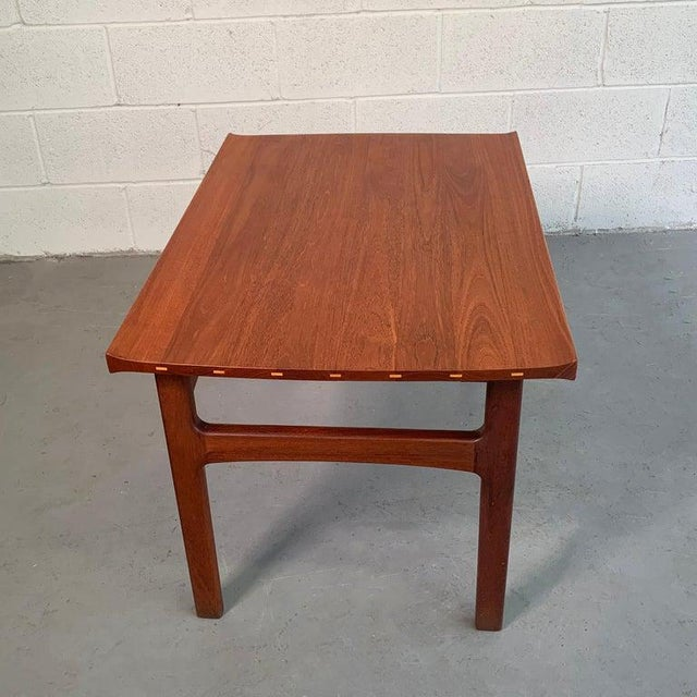 Teak Side Table by Tove and Edvard Kindt-Larsen for Dux For Sale In New York - Image 6 of 9