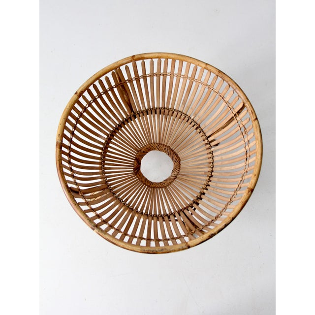 Mid-Century Rattan Basket For Sale - Image 12 of 13