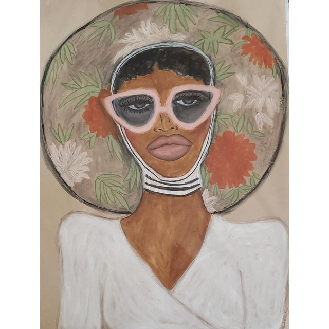 Figurative Floral Hat Painting by Kendra Dandy *Price Is Firm* For Sale - Image 3 of 4
