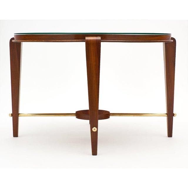Brass Art Deco Period Figured Walnut Gueridon Table For Sale - Image 7 of 10