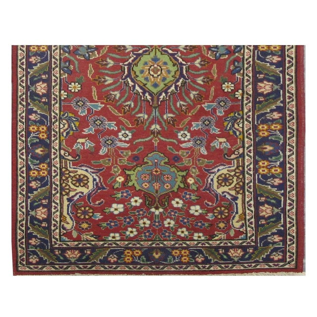 Persian Vintage Persian Tabriz Rug - 2'10'' x 12'1'' For Sale - Image 3 of 3