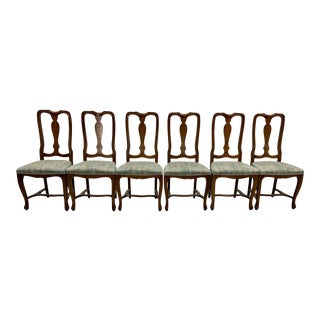 Vintage Original Upholstery Dining Chairs - Set of 6 For Sale