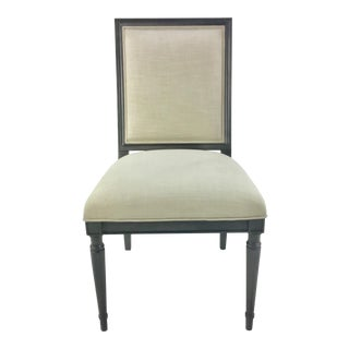 Caracole Gray and Beige Louis Louis Dining/Desk Chair For Sale