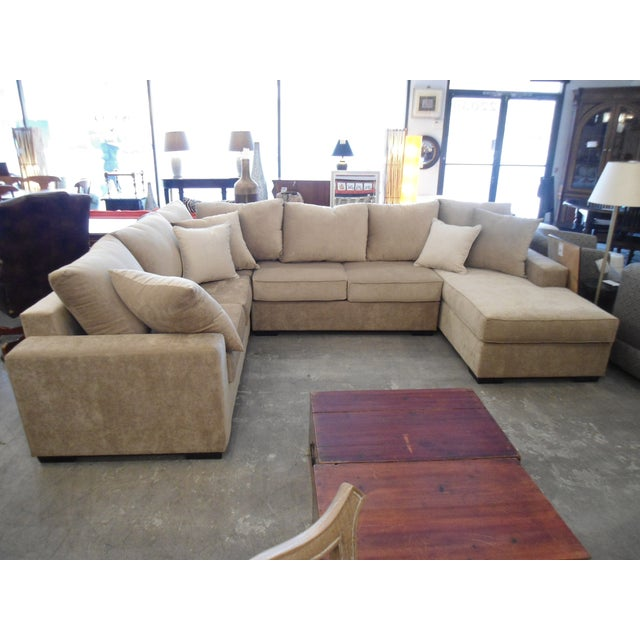 3-Piece Beige Sectional Sofa - Image 2 of 4