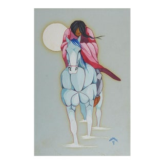 Lee Joshua Native American Painting For Sale