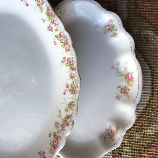 Vintage Floral Platters - Laughlin & Bassett in Cottage Rose Themes, Set of 3 For Sale - Image 9 of 11