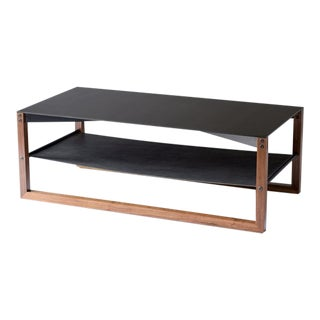"Sling Coffee Table - Aluminum|Walnut 24""x48"" For Sale"