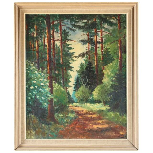 Parc de Chambord Oil Painting - Image 1 of 3