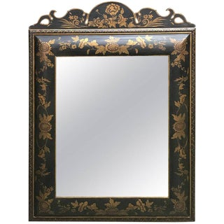 Chinoiserie Gilt Lacquered Mirror For Sale