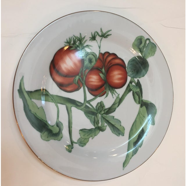 Chelsea House Gold Rim Vegetable Plates - Set of 6 For Sale In Philadelphia - Image 6 of 10