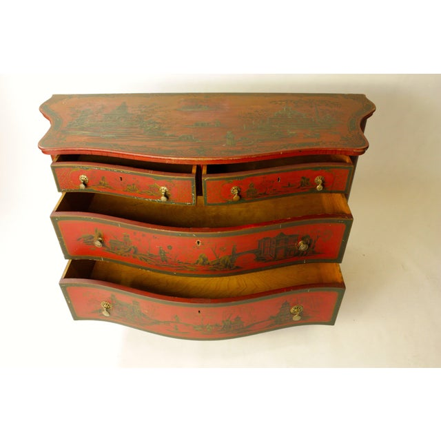Beautifully hand-painted chest. Made in the 1980s.