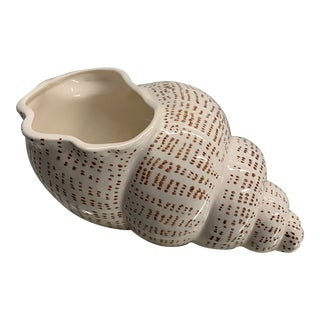 1975 Fitz and Floyd Porcelain Shell Planter For Sale