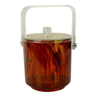 Faux Tortoise Shell Plastic Ice Bucket For Sale
