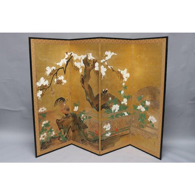 Four Panel Screen, Kano School, Japan.