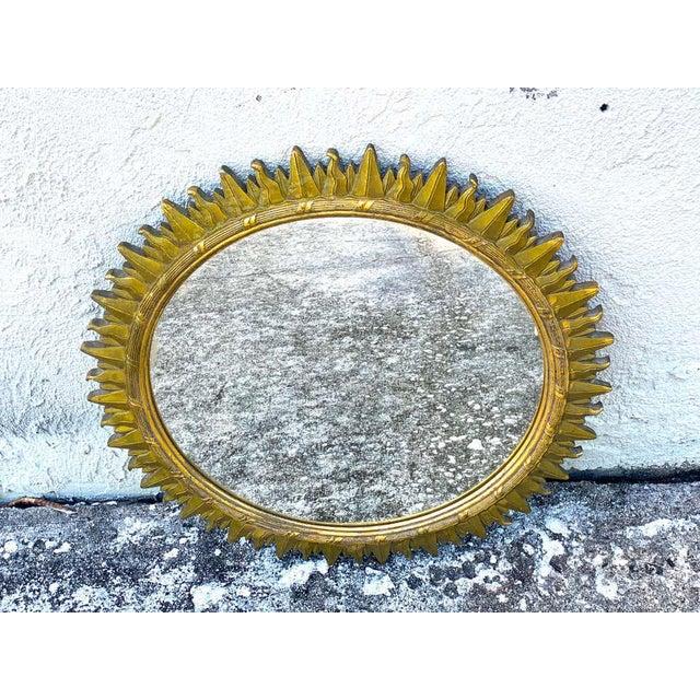 Modern French Modern Giltwood Sunburst Mirror For Sale - Image 3 of 6