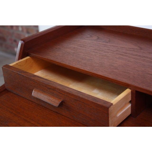 Teak and Brass 'Ladies' Desk by Arne Wahl Iversen - Image 10 of 13