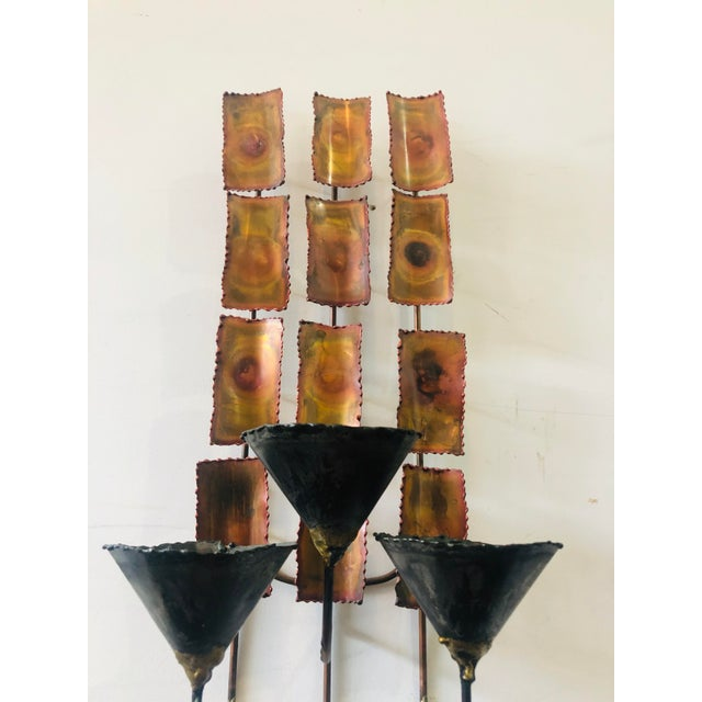 Silas Seandel 1970s Brutalist Mid Century Wall Sconces-A Pair For Sale - Image 4 of 9