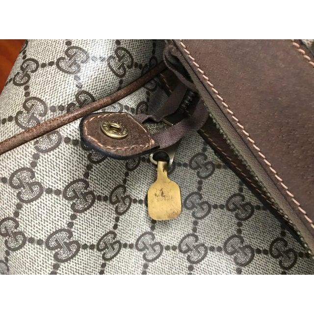 Animal Skin Huge Vintage Gucci Monogram Duffel Bag For Sale - Image 7 of 12