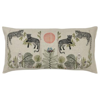 Jungle Motif Lumbar Pillow For Sale