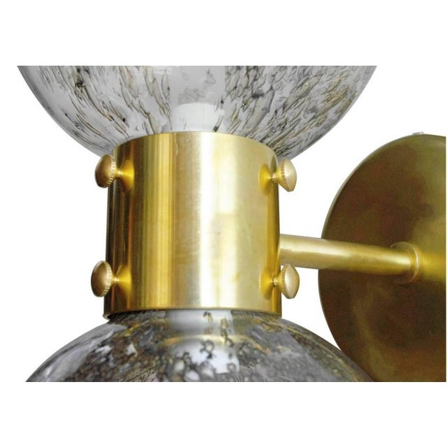 Gold Bailarina Duo Globe Sconce For Sale - Image 8 of 12