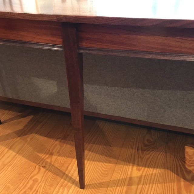 Handcrafted Walnut Curved Console Table For Sale - Image 11 of 13