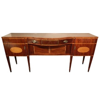 Late 18th Century Rare Size Regency Sideboard With Satinwood Inlaid Top For Sale