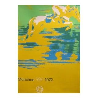 Original 1972 Munich Equestrian Poster