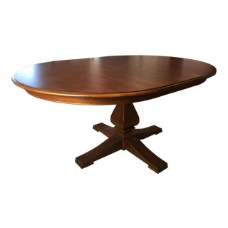 Ethan Allen Camden Round Dining Table With Leaf For Sale
