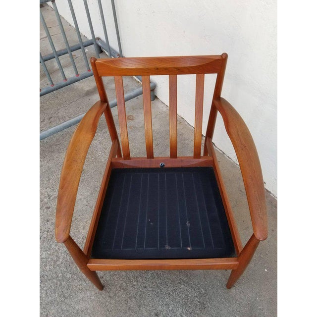 Grete Jalk for France & Daverkosen Teak Lounge Chairs - A Pair For Sale - Image 9 of 13