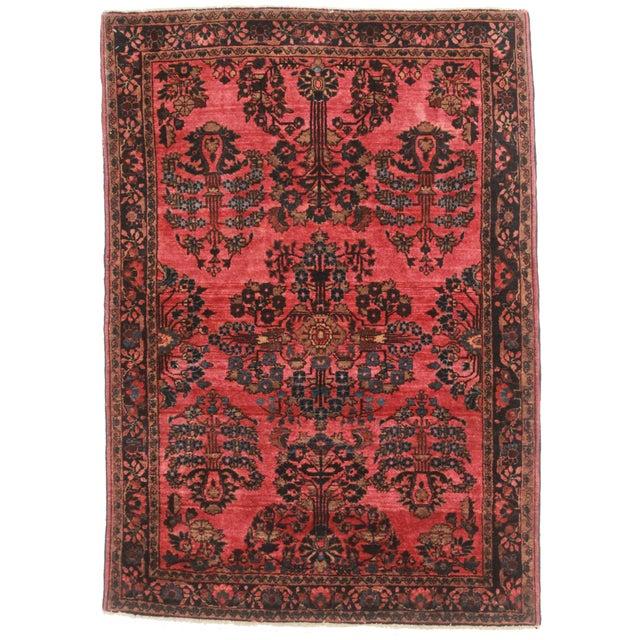 """RugsinDallas Antique Persian Sarouk Rug - 3'5"""" X 4'9"""" For Sale"""