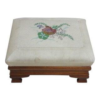 Antique Empire Mahogany Footstool