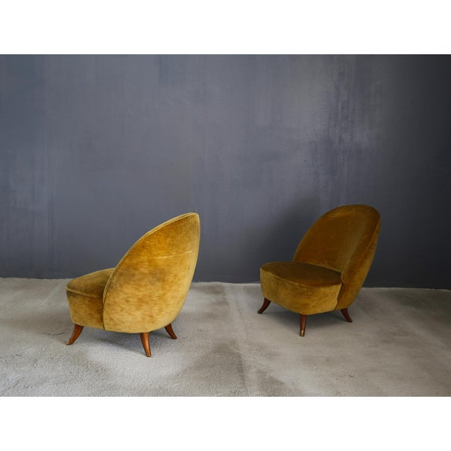 Mid-Century Modern Guglielmo Ulrich Armchairs From 1950 With Original Fabric For Sale - Image 3 of 6
