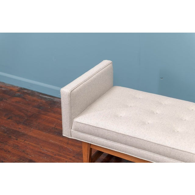 Mid-Century Modern Mid-Century Modern Upholstered Bench by Selig For Sale - Image 3 of 8