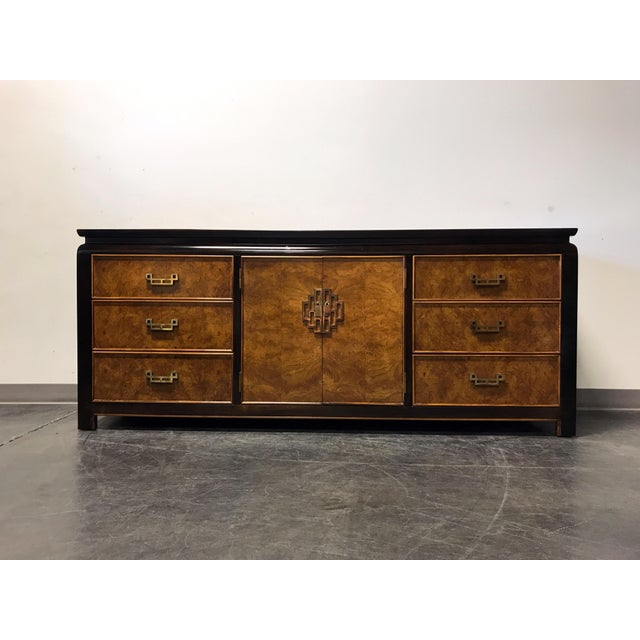 Tons of storage in this Asian style dresser by high quality furniture maker Century, of Hickory, North Carolina, USA. Burl...