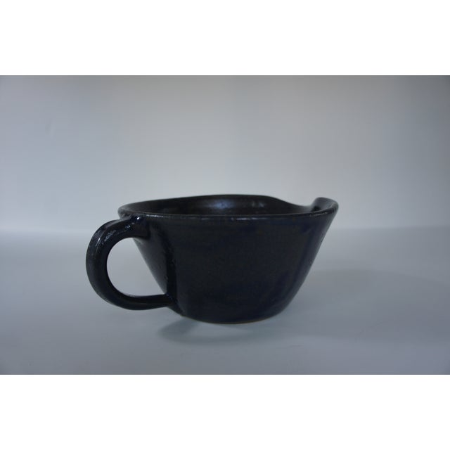 Mid-Century Modern 1970s Mid-Century Modern John Garrou for Old Fort Pottery Purple Glaze Pitcher For Sale - Image 3 of 11