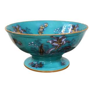 Massive Cerulean Blue Porcelain Lily Bowl by t.j. & J. Mayer For Sale