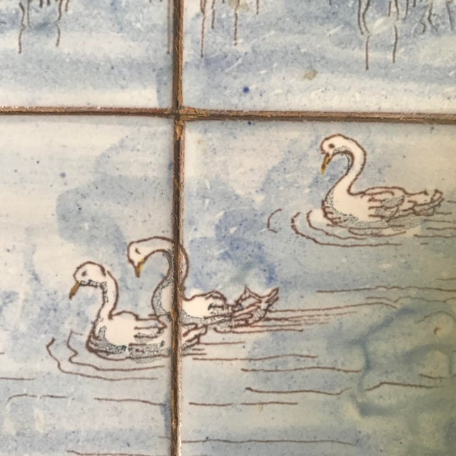 1980s 1980s French Handpainted Tile Table With French Chateau Chenonceau For Sale - Image 5 of 8