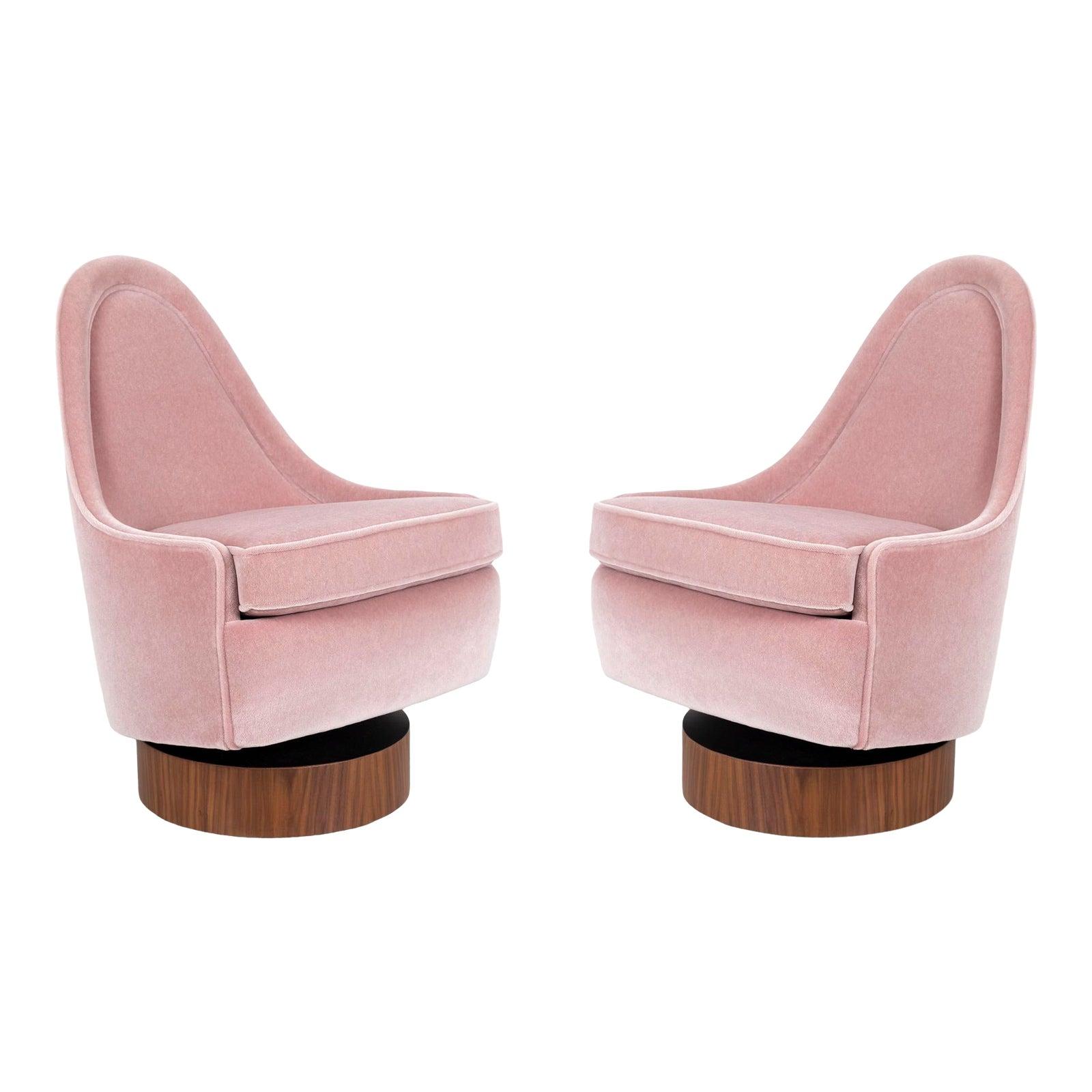 Milo Baughman Child's Size Swivel Chairs | Chairish