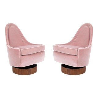 Milo Baughman Child's Size Swivel Chairs For Sale