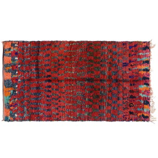 Red Moroccan Wool Rug - 6′2″ × 12′5″