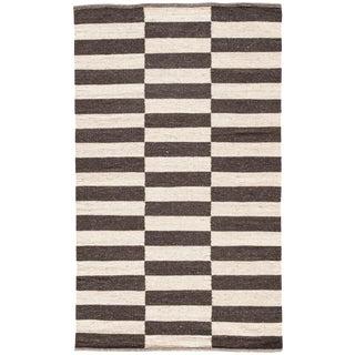 Jaipur Living Demi Handmade Stripe Brown & Cream Area Rug - 8' X 10' For Sale