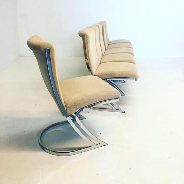 Pierre Cardin Set of 6 Vintage Pierre Cardin Z Chairs For Sale - Image 4 of 10