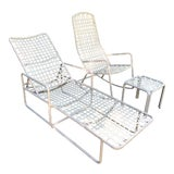 Image of Brown Jordan Patio Lounger, Rocker & Ottoman—Set of 3 For Sale