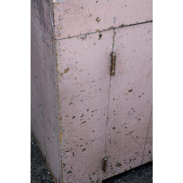 19th Century Dry Sink in Original Dusty Rose Paint For Sale - Image 11 of 12