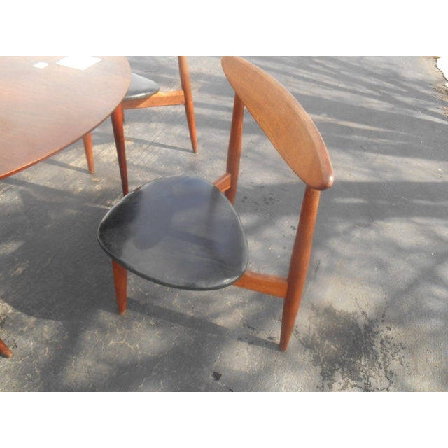 Hans Wegner Dining Set / Game Table For Sale - Image 6 of 10