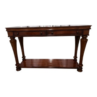 Traditional Hooker Furniture Tall 2-Drawer Cherry Console Table For Sale